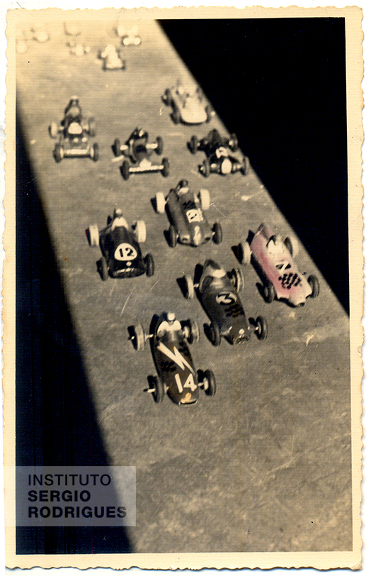 Sergio Rodrigues' model car collection, one of his great childhood passions.